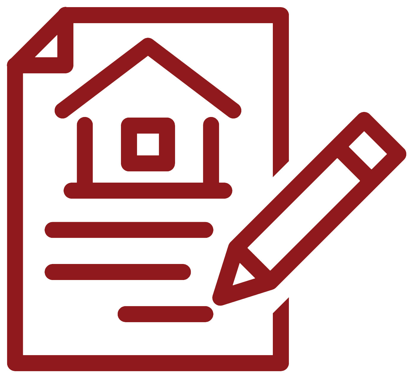 home document with pencil icon