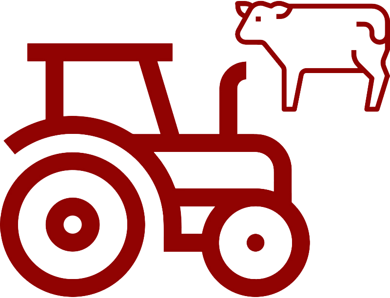 tractor and cow icon